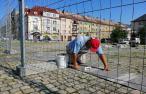 Oprava dlažby na náměstí