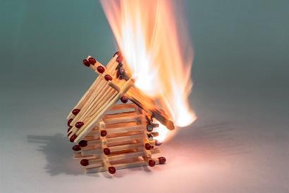 požár v domácnosti