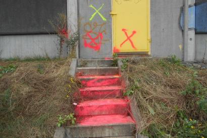 Grafiti z místa činu ve Svinově